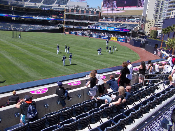 Padres faithful kick back in the stands and absorb the sights and sounds of San Diego baseball.