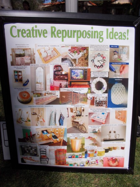 Poster shows many creative repurposing ideas! Click photo to enlarge and read some cool, very unusual ideas that you might try!