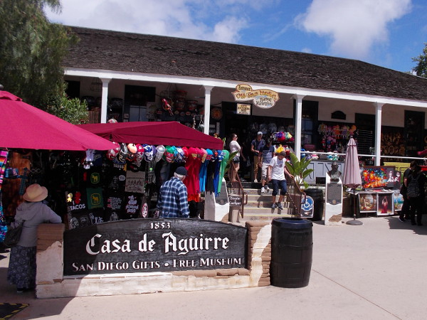Casa de Aguirre in Old Town was built around 1853. The adobe mansion was one of the first houses in San Diego, owned by Don Jose Antonio Aguirre, a prosperous merchant and rancher.