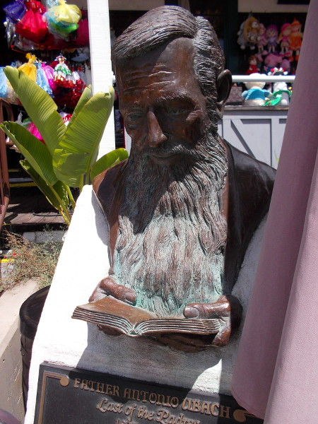 Bust of Father Antonio Ubach, Last of the Padres, 1835-1907. Antonio Dominic Ubach ran St. Anthony's Indian School on this site from 1886 to 1891.