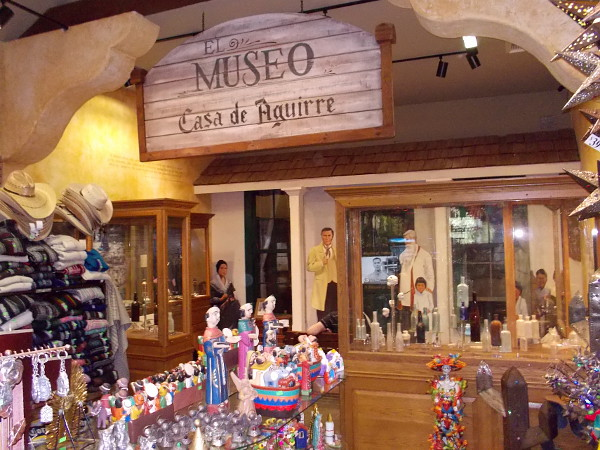 Casa de Aguirre in Old Town San Diego today contains a shop visited by many tourists and a small museum in back.