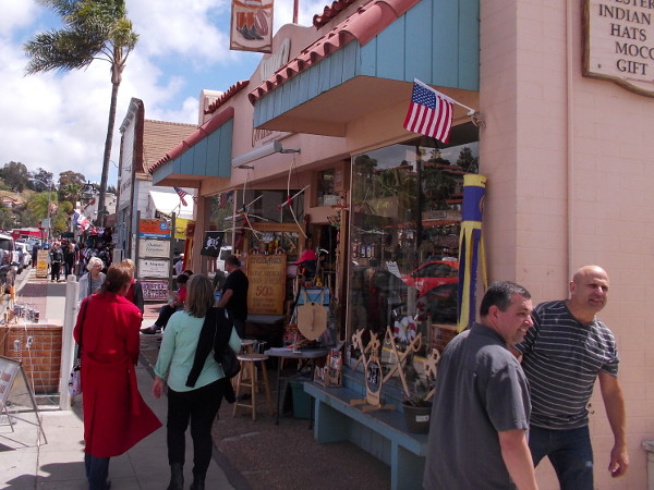 There are tantalizing sights everywhere you turn. The commercial part of Old Town is a popular destination for tourists visiting San Diego.