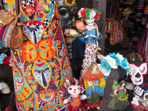Just a riot of color in one window! Mexican culture adds a great deal of life to San Diego and this region.
