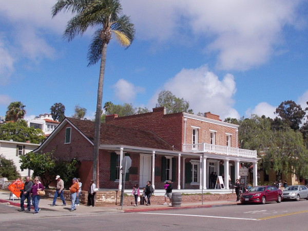 The Whaley House as it appears today on San Diego Avenue. It's reputed to be the most haunted place in America! (Just to be careful, I stayed across the street.)