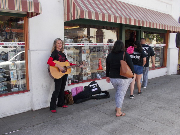 A walk down San Diego Avenue in Old Town San Diego is never dull!