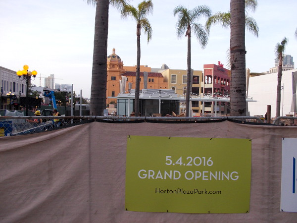 The elaborate Horton Plaza Park will celebrate its Grand Opening on the evening of May 4, 2016.
