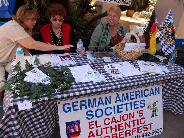 These friendly folks are representing the German American Societies, who host El Cajon's authentic Oktoberfest!