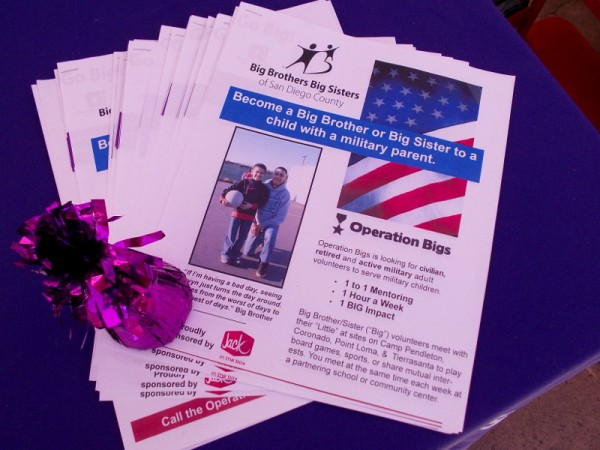 Big Brothers Big Sisters of San Diego County needs you! Operation Bigs seeks civilian, retired and active military adult volunteers to serve military children.