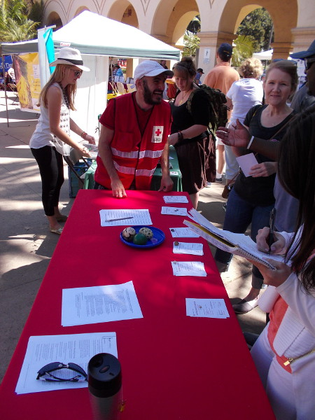 The American Red Cross of San Diego and Imperial Counties was represented at the international non-profits fair in Balboa Park.