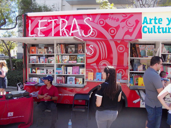 A book truck from nearby Tijuana could be found at the Jacaranda Spring Thing.