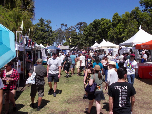 People check out the world's largest fair celebrating Earth Day--EarthFair in San Diego's sunny Balboa Park!