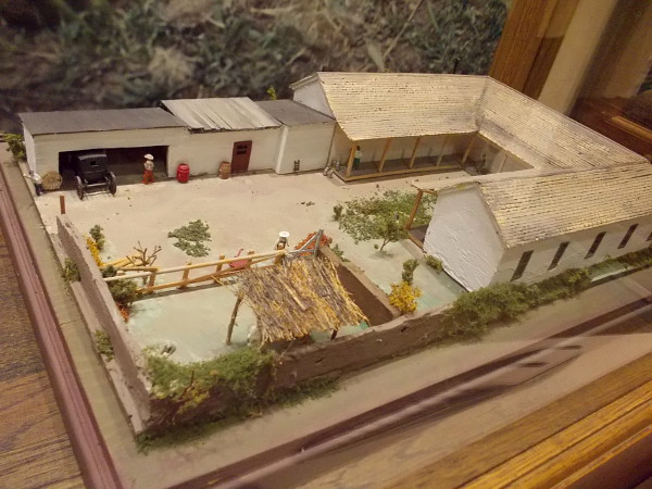 A model of how the Casa de Aguirre appeared a century and a half ago.