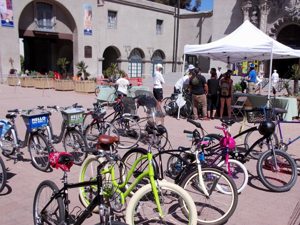 Many San Diegans saved energy, reduced air pollution and stayed healthy by riding their bicycles to EarthFair!