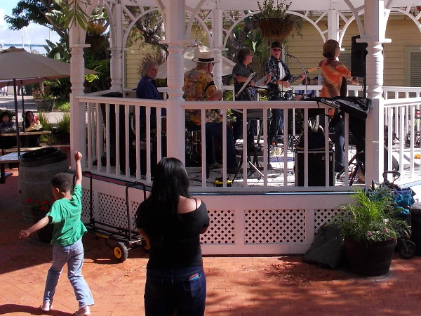 It's hard to stand still! The Bayou Brothers add wonderful vitality to a Sunday afternoon in Seaport Village!