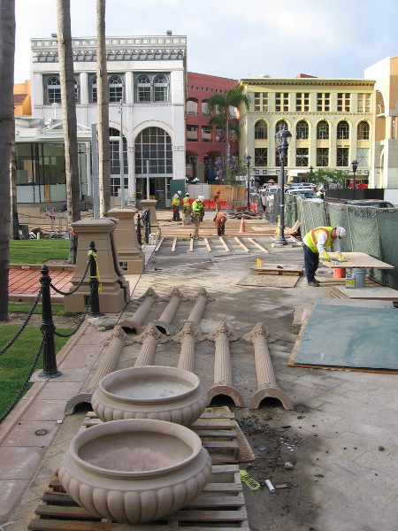 The modern, expansive Horton Plaza Park is a fantastic addition to downtown San Diego, but its creation took many years of planning and hard work. Another photo about a week prior to the grand opening.