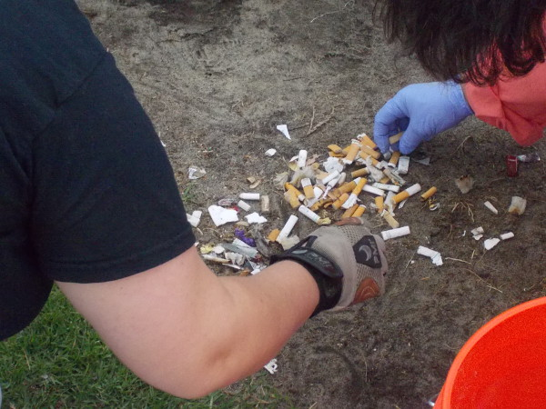 These friendly guys found over 300 cigarette butts. Yikes. If only some people could be a little more thoughtful...