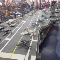 USS Midway model in Petco Park's Power Alley.
