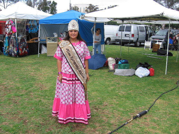Miss Kumeyaay Nation was very gracious to pose for a photograph.
