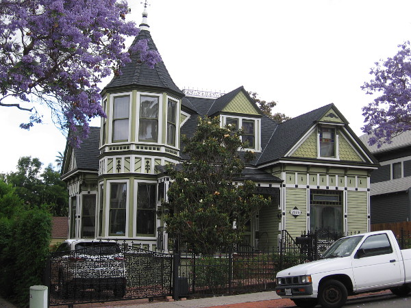 A nicely restored Victorian residence on Broadway in Golden Hill. This neighborhood contains many historic houses, and some are quite amazing. A hundred years ago, this area on a hill near downtown was quite affluent.
