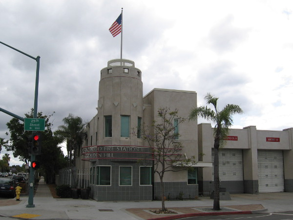 San Diego Fire Station 11, at the corner of Broadway and 25th Street. It's a perfect day for a walk!