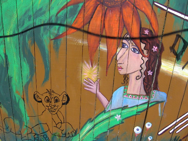 A magical lady, eyeball blooms and an unfinished Simba.
