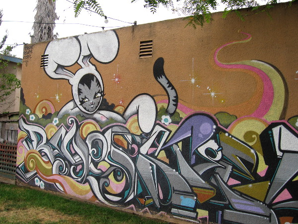 Local graffiti artists Persue, Reyes and Steel created this cool street art on Fern Street in South Park.