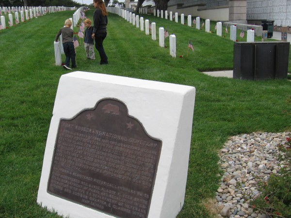 Fort Rosecrans National Cemetery is also a California Registered Historical Landmark.