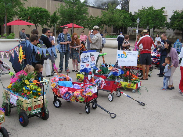 Floral Wagon Parade At Balboa Park's Garden Party!