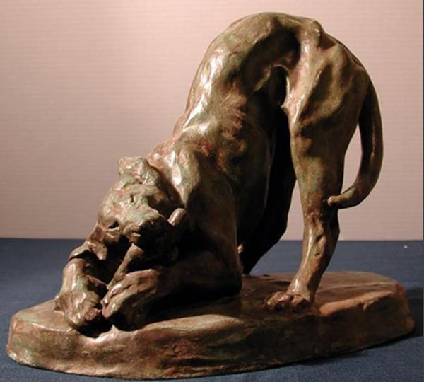 Dog Gnawing Bone, Arthur Putnam, 1904. Photo courtesy San Diego Museum of Art.
