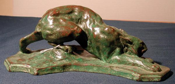 Lynx Ready to Spring, Arthur Putnam, 1909. Photo courtesy San Diego Museum of Art.