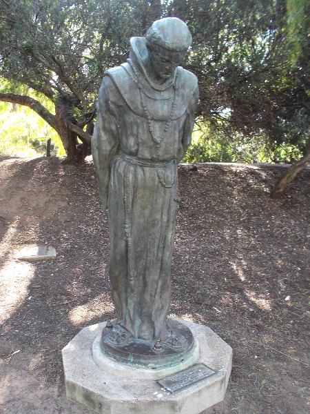 The Padre, Arthur Putnam, 1908. This sculpture stands among some trees on San Diego's Presidio Hill beneath the Serra Museum.