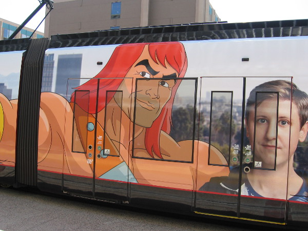 A new FOX television show, Son of Zorn, advertised on a San Diego trolley. Comic-Con graphics are slowly beginning to appear in San Diego.