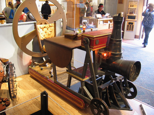 A steampunk writer might enjoy creating new worlds while sitting here! Time Machine Desk, Recycled Pine and Plywood, Jeffrey Comulada.