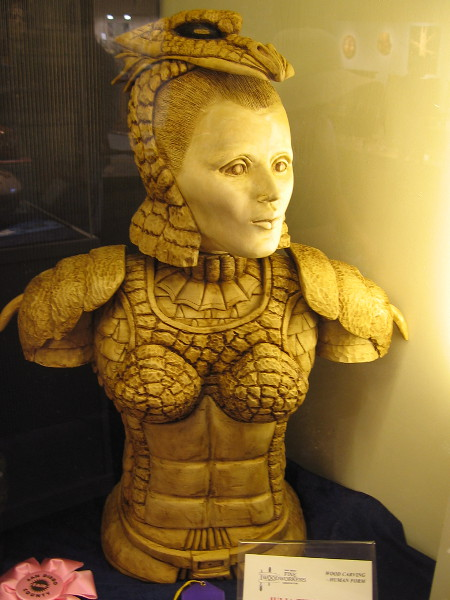 A truly amazing fantasy woodcarving. Julia the Dragon Killer, Bass, Antonio Barrios.