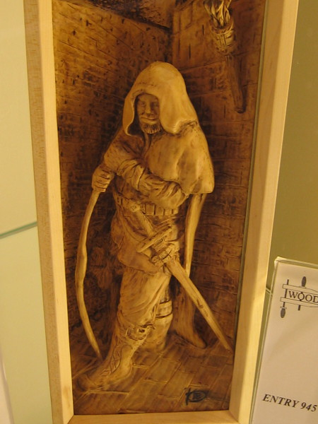 Perhaps this is a wood version of Strider from Lord of the Rings. Ranger, Basswood, Randy Stoner.