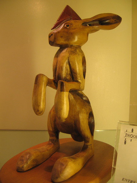 I love this example of imaginative wood design. Jack Rabbit, Alder, Ray Camien.