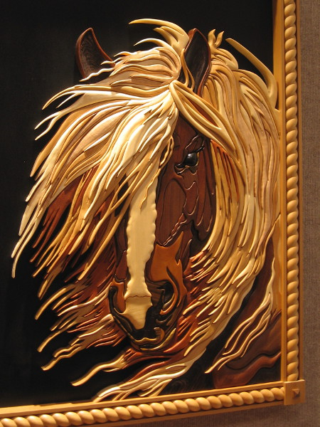 Now this work of wood art totally blew my mind. Absolutely beautiful. Stormy, Various, Chuck Collins.