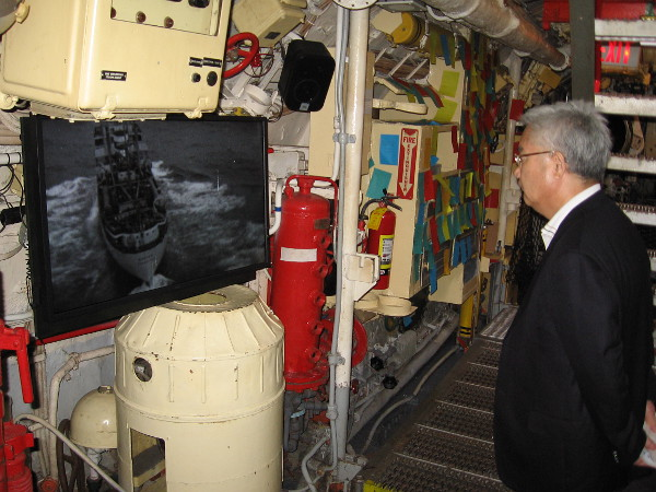 And finally we've made our way into the After Torpedo Room, where visitors can watch a concluding video documentary. After surfacing peacefully, the B-59 eventually resubmerged and vanished.