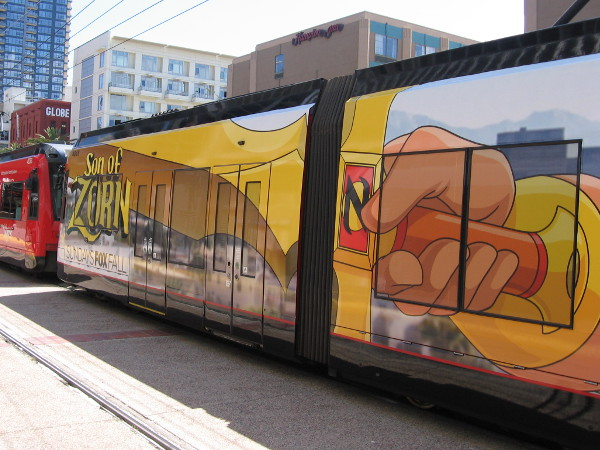 The first 2016 San Diego Comic-Con trolley wrap has debuted in June! Both sides of this trolley advertise upcoming television shows on FOX.
