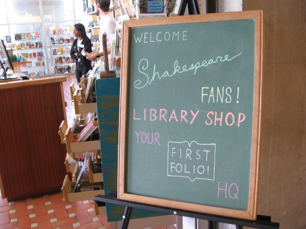 The San Diego Central Library's gift shop is participating in the big event, of course!