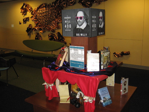 One of several displays found on various floors of the downtown public library. This one pays homage to Big Willy and his wide cultural influence.