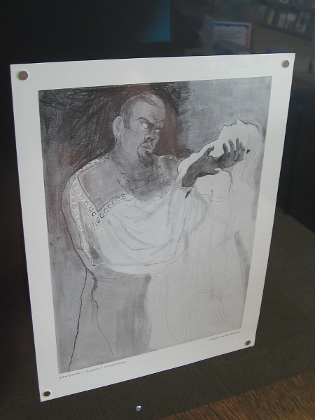 Othello and Desdemona, by John Lincoln. Graphite.