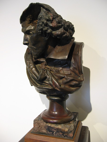 Bust of William Shakespeare. This Carrier-Belleuse sculpture was rescued from the Old Globe Theatre in 1978 as it was burning. It became a symbol of the Old Globe's survival.