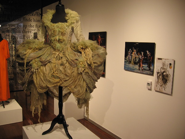 Costume designed by Robert Morgan of character Moth, a Faerie, in Shakespeare's A Midsummer Night's Dream.