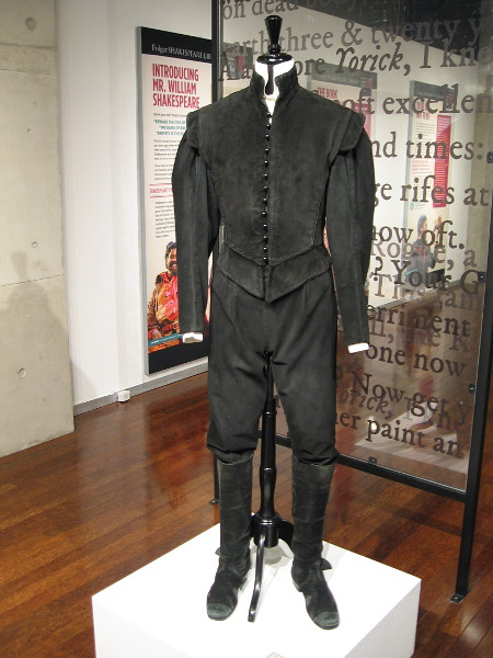 Costume from 2007 Old Globe production of Hamlet worn by the title character.