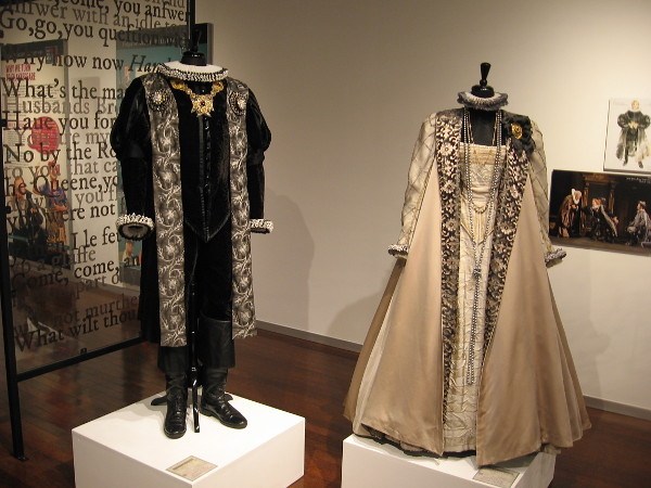 Costumes for Claudius and Gertrude, used in Shakespeare's famous tragedy Hamlet.