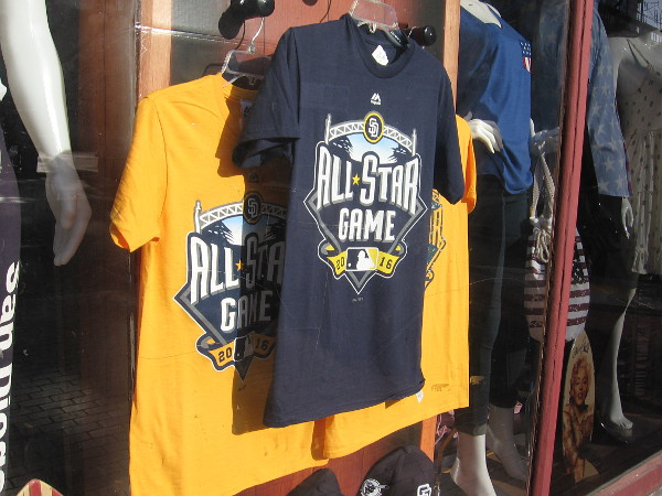 2016 MLB All-Star Game merchandise is now available in stores all over San Diego, especially in the Gaslamp Quarter.