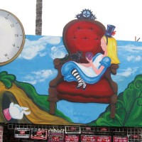 Alice pops out of rabbit hole at San Diego County Fair!