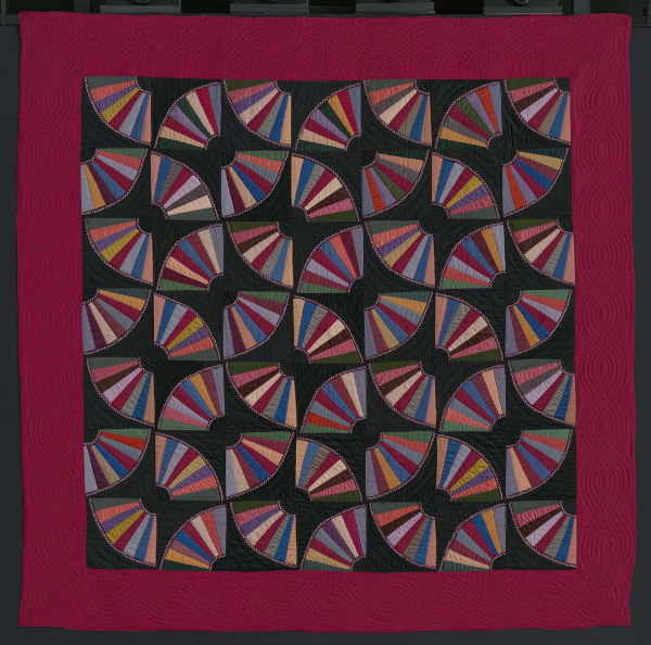 Fans quilt, Amish, 1900-1910. Made in Pennsylvania.