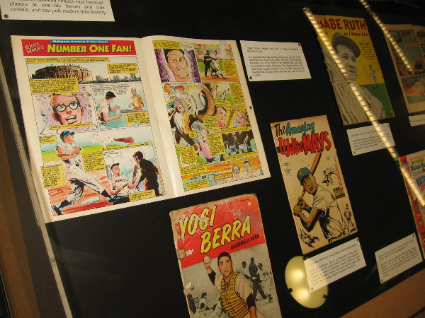 Display cases in San Diego's Central Library feature cool comic books and original art with a baseball theme! Perfect for both San Diego's MLB All-Star Game and Comic-Con!